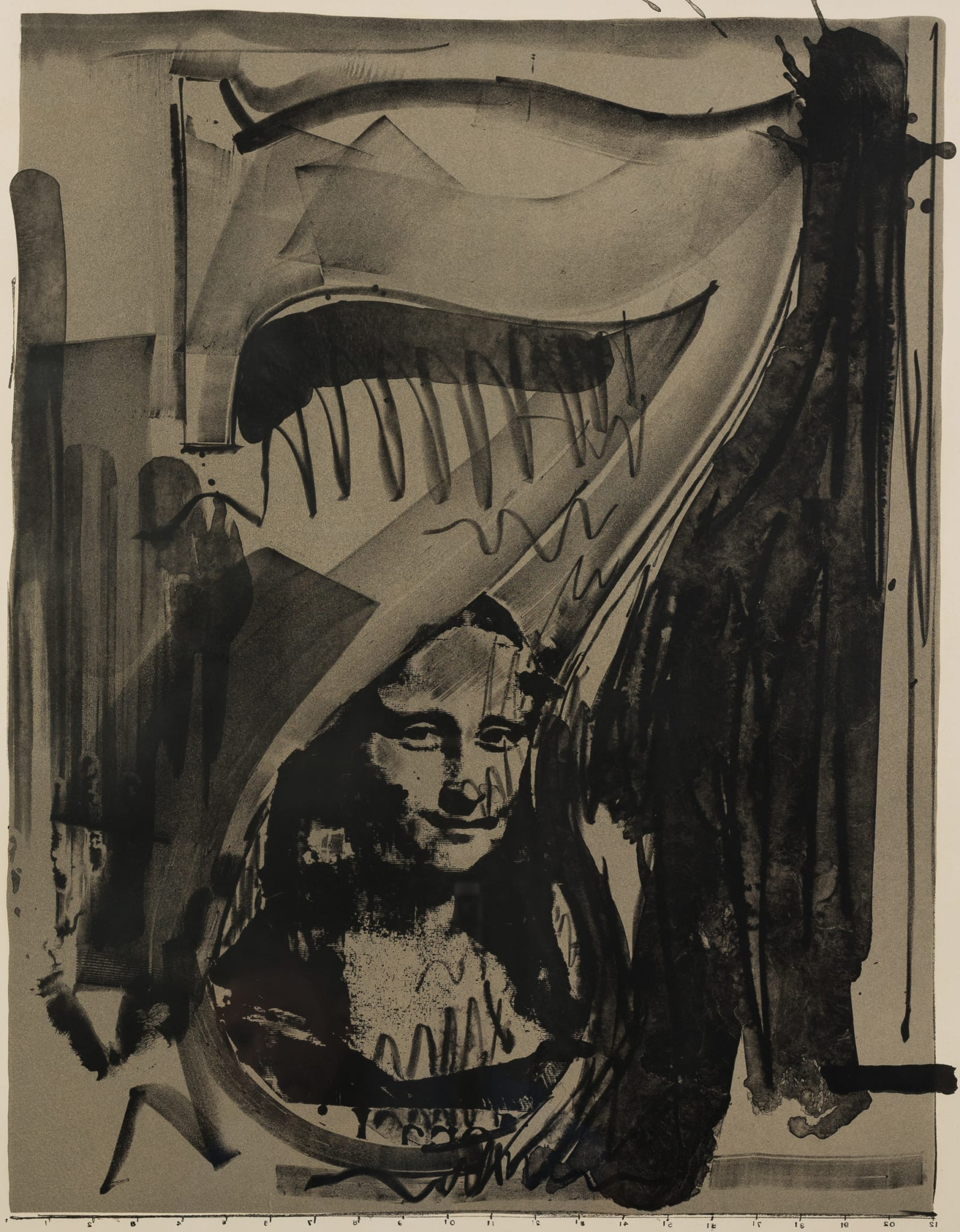 Jasper Johns Figure 7 Broad Lithograph Flag Auction