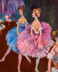 Leroy Neiman - La Dansuese Le Ballet painting